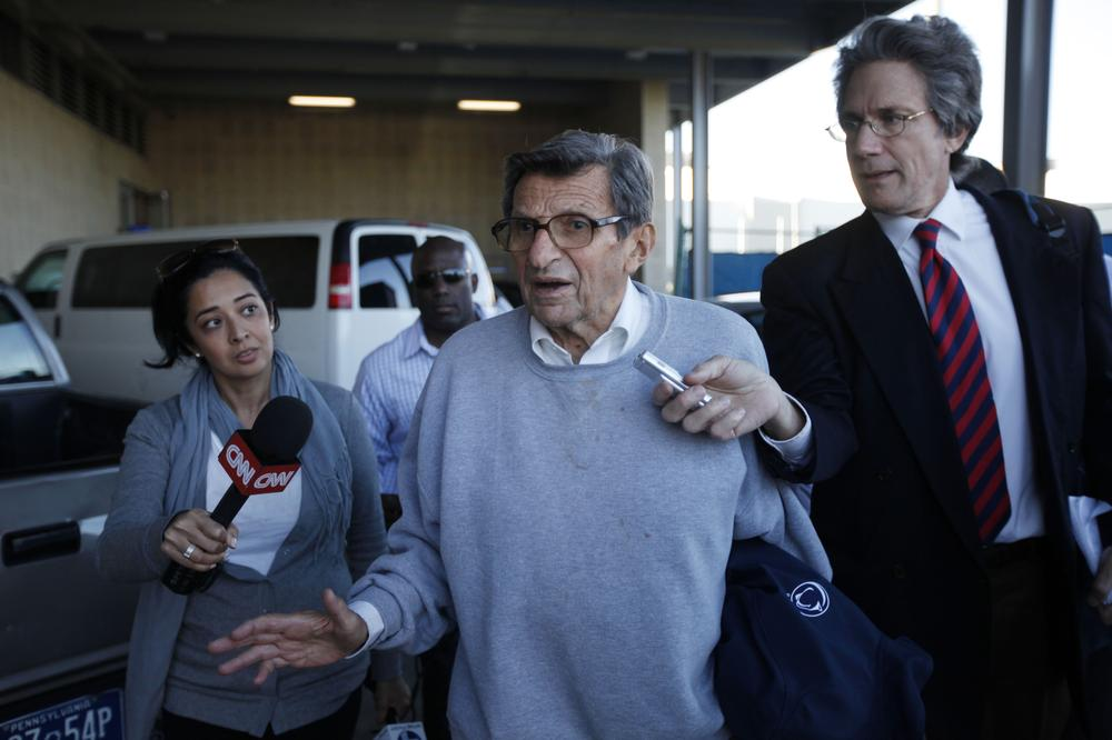 Joe Paterno was fired by the Penn State Board of Trustees on Wednesday evening amid a child sex-abuse scandal involving a former assistant and one-time heir apparent. (AP)