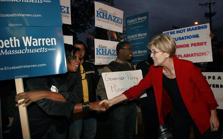 Consumer advocate and Democratic candidate for Senate, Elizabeth Warren (AP)