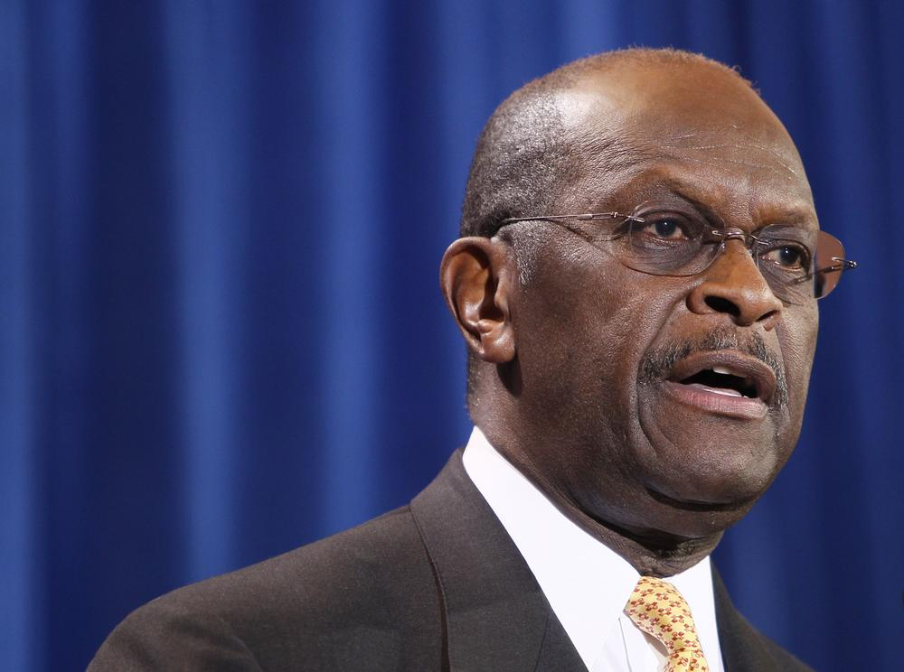Republican presidential candidate Herman Cain addressed the media Tuesday, in Scottsdale, Ariz. (AP)