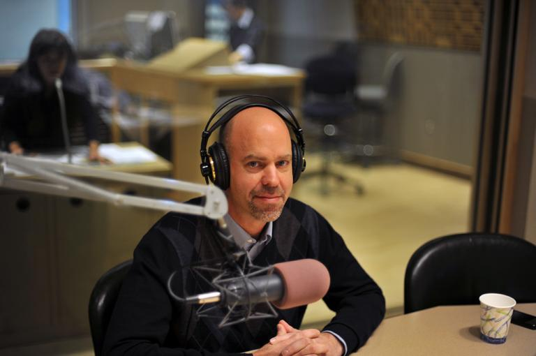 Sports Illustrated writer Ian Tomsen in the On Point studio. (Alex Kingsbury/WBUR)
