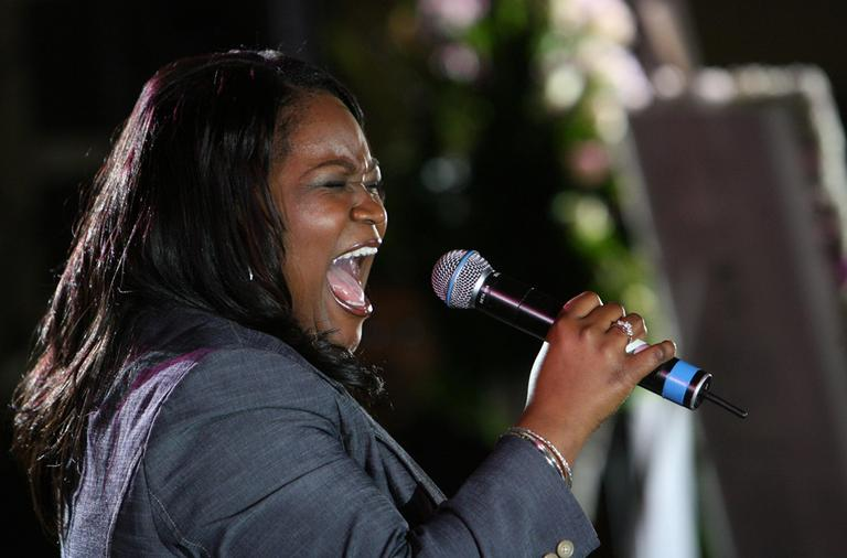 Blues singer Shemekia Copeland during a musical tribute in Chicago.  (AP)