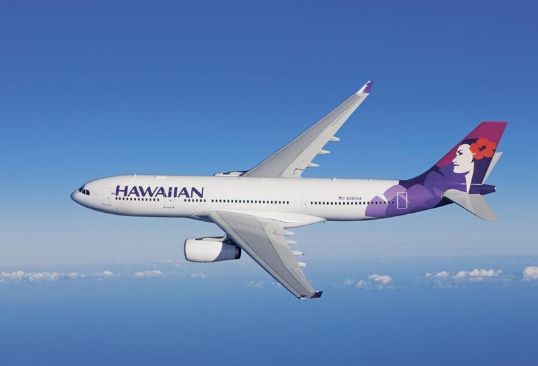 Hawaiian's new Airbus A330-200 aircraft seat 294 passengers and offer the comforts of a spacious interior, new generation seats with increased legroom, and a state-of-the-art, on-demand entertainment system in every seatback. (AP)
