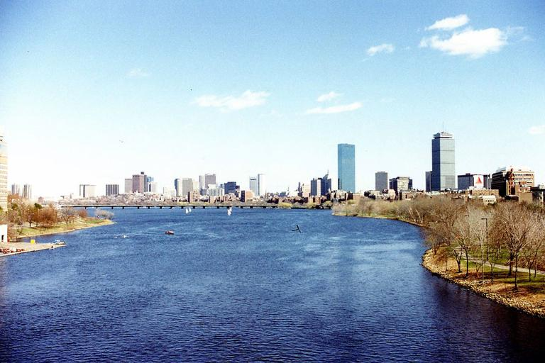 The view of the Charles River from the BU Bridge. (Courtesy: wallyg/Flickr)