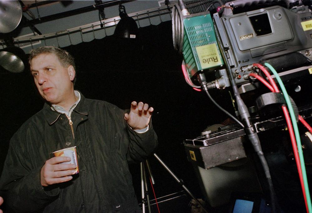 Filmmaker Errol Morris, gestures as he works at a studio in Cambridge, Mass. in 2000. (AP)