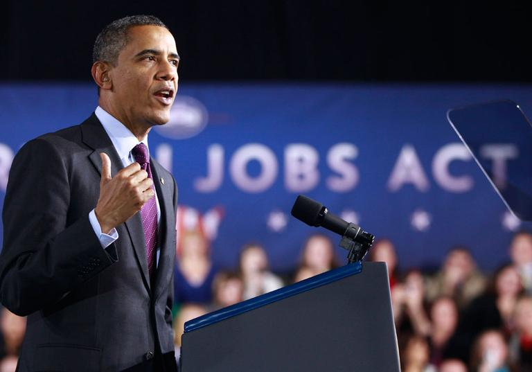 President Obama speaks Tuesday at Manchester High School Central in Manchester, N.H. (AP)