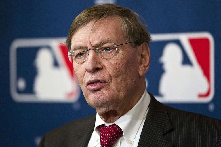 """MLB Commissioner Bud Selig hailed the league's new five-year labor deal with the players union as """"historic."""" (AP Photo/Morry Gash)"""