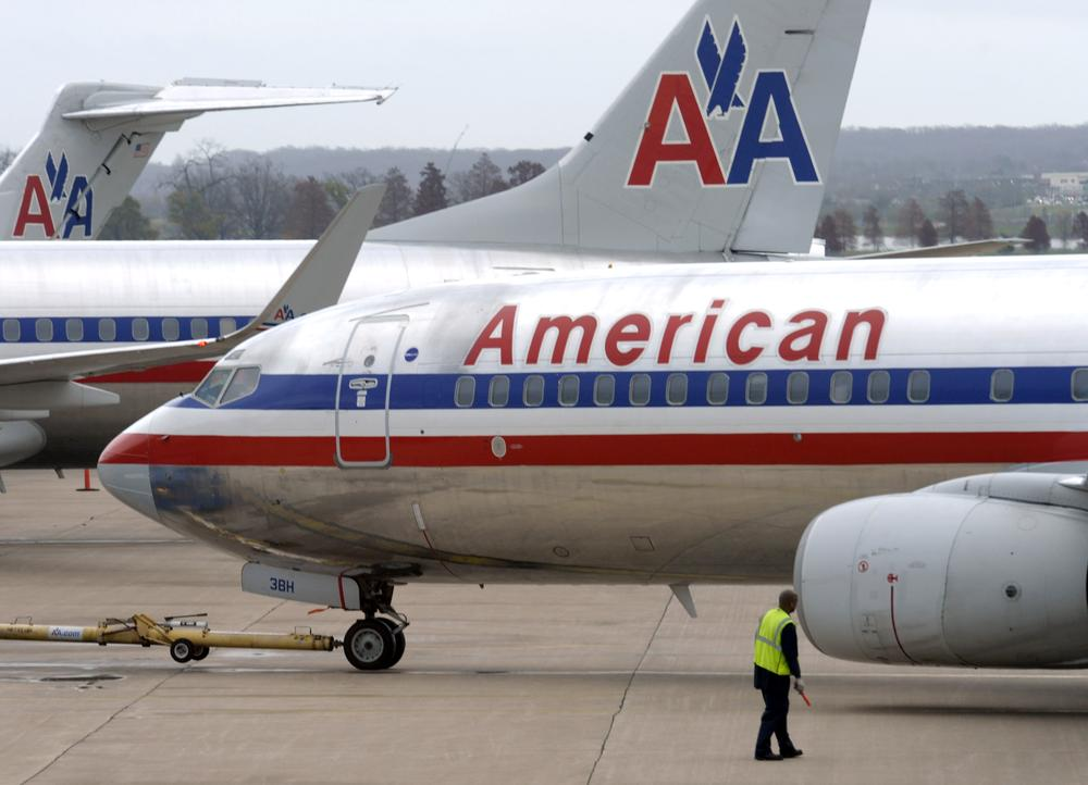 An American Airlines plane is moved from a gate at Washington's Ronald Reagan National Airport. (AP)