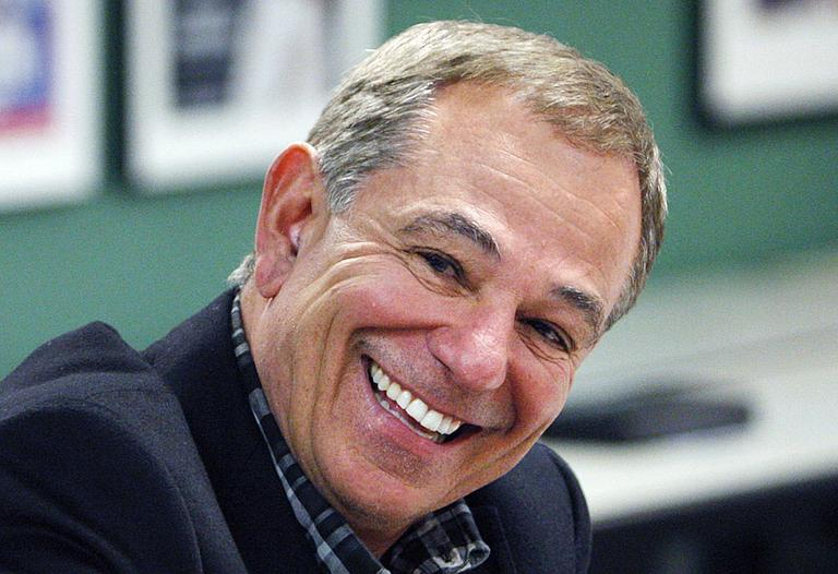 Bobby Valentine smiled as he answers questions from reporters following his interview with the Boston Red Sox in November. (AP)