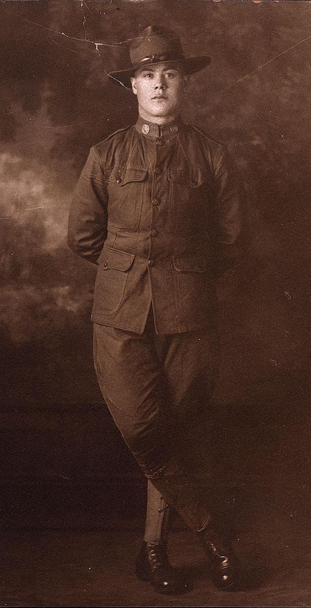 Italian-born Tony Pierro of Swampscott in 1918 (Courtesy Pierro Family)