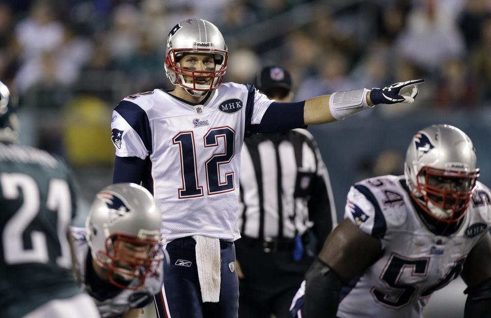 New England Patriots quarterback Tom Brady directs his team during the second half of a game with the Philadelphia Eagles Sunday, Nov. 27. (AP)