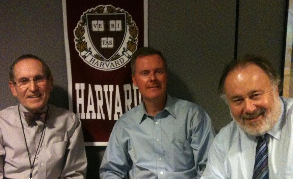 Barry Dorn (L), Eric McNulty (center) and Leonard Marcus (R)