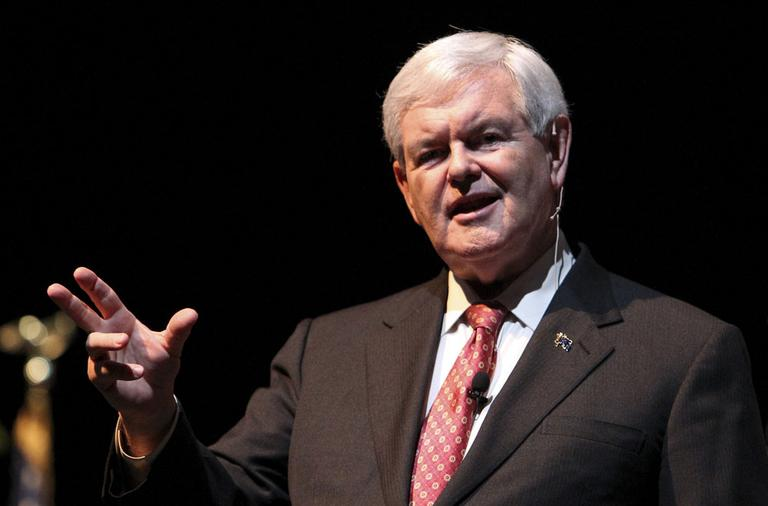 Republican presidential candidate former House Speaker Newt Gingrich speaks to supporters Monday, Nov. 28, 2011, in Charleston, S.C. (AP)