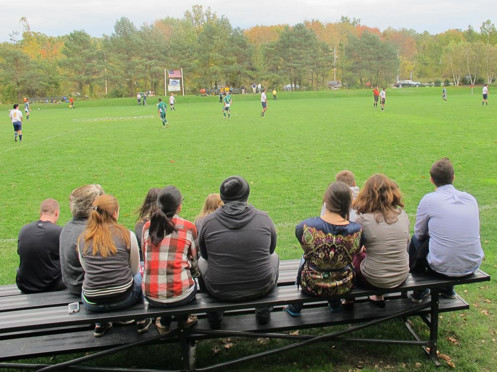 Fans watch as the C.I.A. Steels host Webb Institute in late October in Hyde Park, NY. The Steels won 11-1.  (Doug Tribou/Only A Game)
