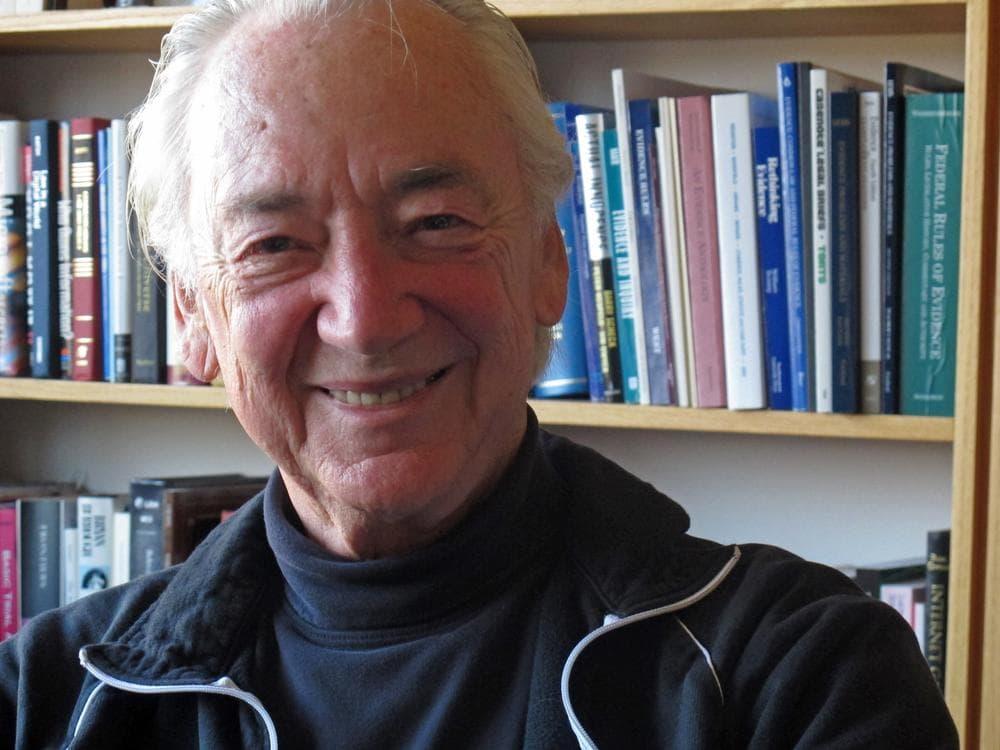 Charles Nesson advises the Harvard Poker Strategic Thinking Society.  (Karen Given/WBUR)
