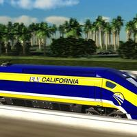 This image provided by the California High-Speed Rail Authority shows an artist's conception of a high-speed rail car in California. (AP/California High-Speed Rail Authority)