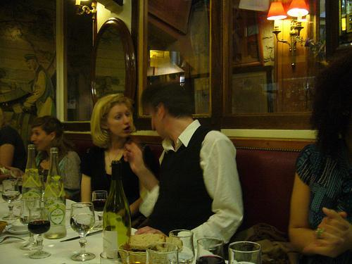 What can you do when your dinner partner can't stop chattering?