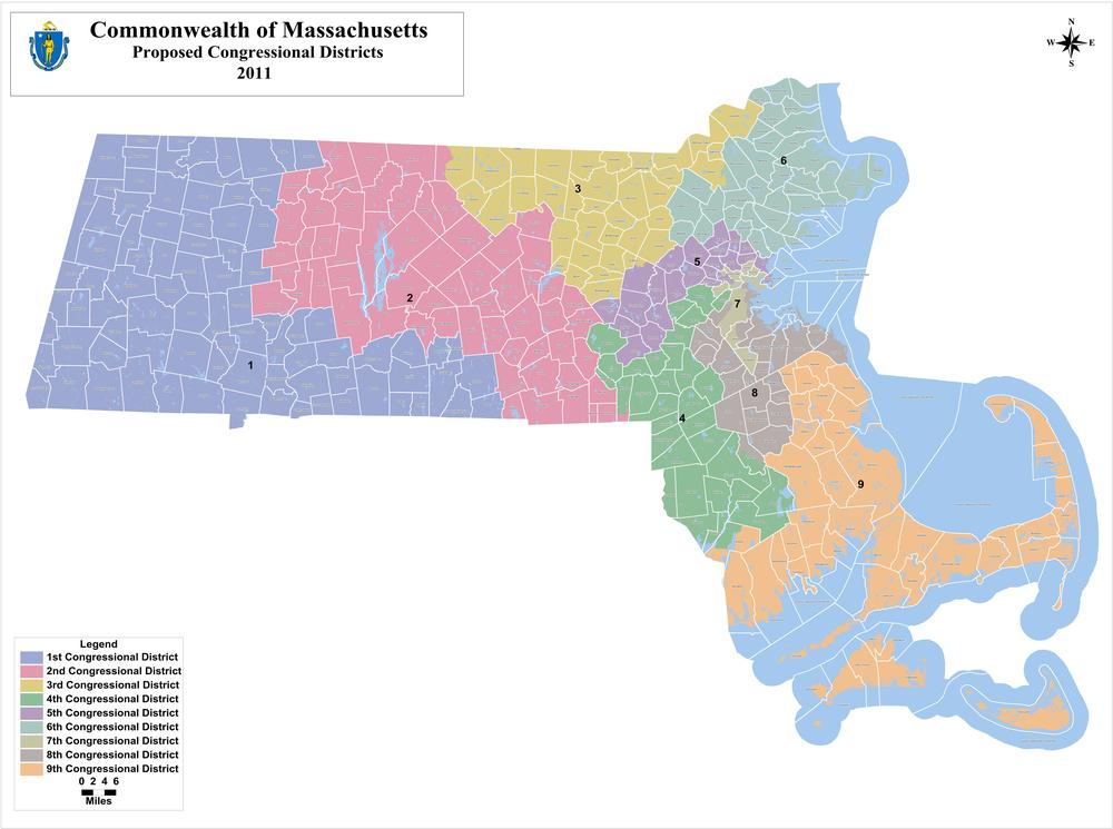 The proposed Congressional districts.
