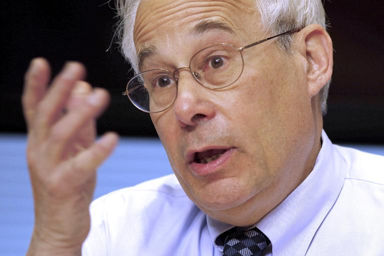 Medicare Administrator Dr. Donald Berwick gestures during an interview with The Associated Press, Tuesday, April 12, 2011, in Washington. (AP)