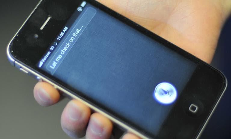 Siri on Apple's iPhone 4s (Alex Kingsbury/WBUR)