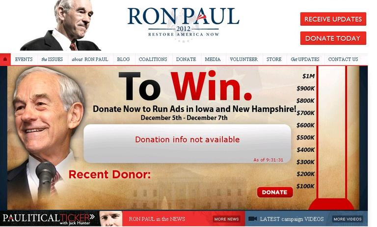 This website came up when users typed rickperry.com into their address bar. It has since been taken down.