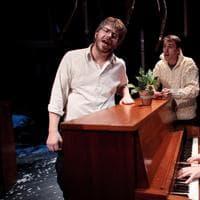 Dave Malloy, Alec Duffy, Rick Burkhardt at the ART's Three Pianos. (Ryan Jensen)
