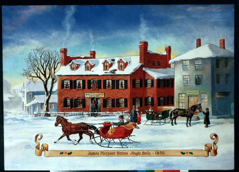 Seccomb House, which later became the Simpson Tavern, Medford. Illustration by Nestor Redondo, 1992. (Courtesy of the Medford Historical Society)