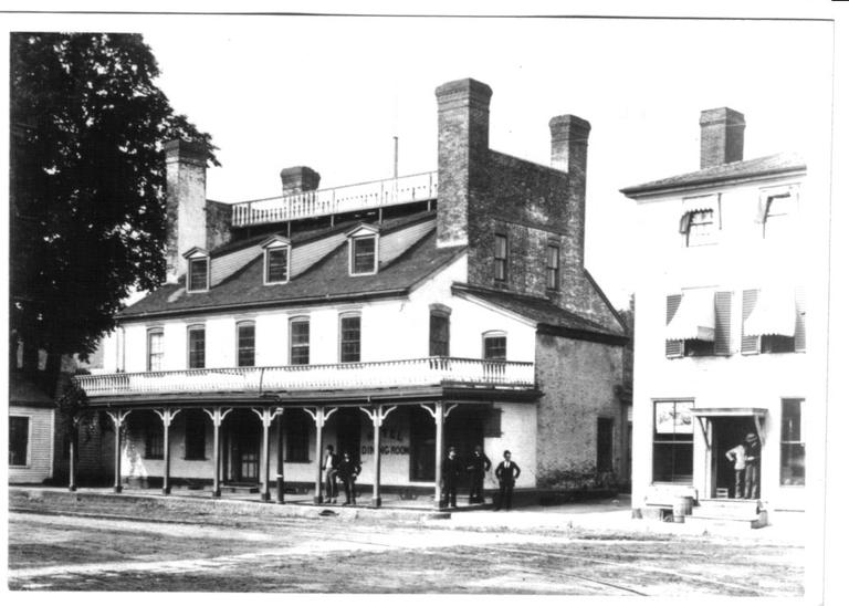 "Photo of Simpson Tavern, Medford, circa 1884. According to the City of Medford, this is where James Pierpont first performed ""Jingle Bells"" in 1850. (Courtesy of the Medford Historical Society)"