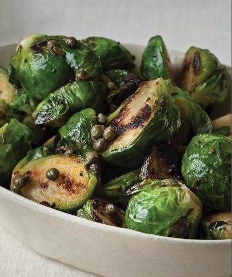 "Roasted brussels sprouts, from ""All About Roasting: A New Approach to the Classic Art"" by Molly Stevens.(Courtesy W.W. Norton & Company)"