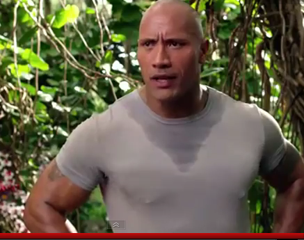 """Demo of """"The pec pop of love"""" in the trailer for """"Journey 2: The Mysterious Island"""""""