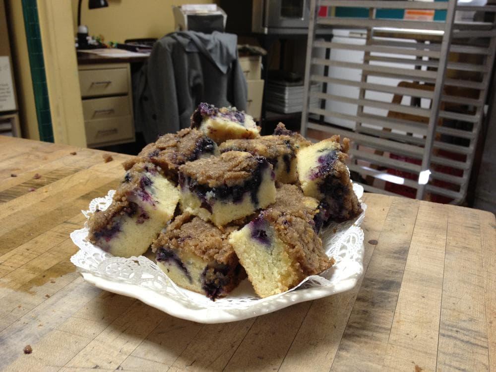 Rosie's Bakery's Blueberry-Muffin Breakfast Cake. (Adam Ragusea/WBUR)