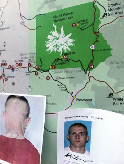 Photos provided by the Pierce County Sheriff's Dept. of Benjamin Colton Barnes. (AP)