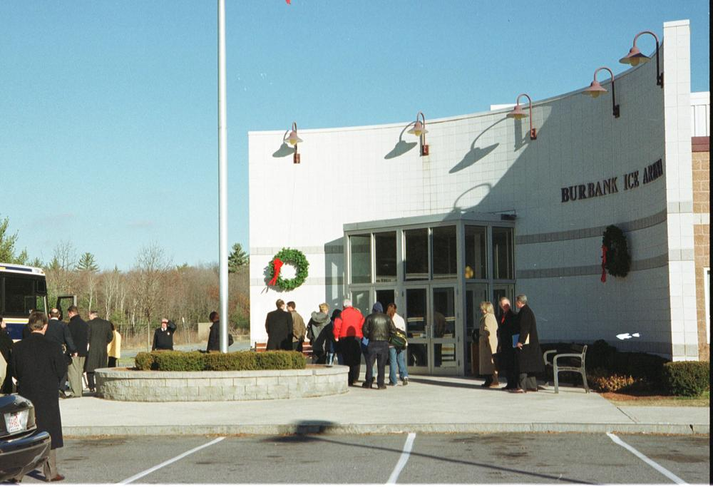 Thomas Junta beat Michael Costin to death inside the Burbank Ice Arena in Reading, Mass. (shown above) in 2000. Junta was released from prison in 2010 after serving 8 years. (AP)
