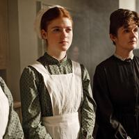 """Rose Leslie, left, and Siobhan Finneran are shown in a scene from """"Downton Abbey,"""" a four-part drama about life in an English country estate.  (AP/PBS)"""