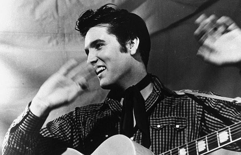 Elvis Presley in a 1957 MGM studio publicity photo. (AP)
