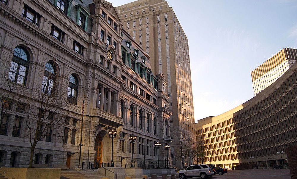 A view of the John Adams Courthouse, where the SJC makes its rulings. (mcritz/Flickr)