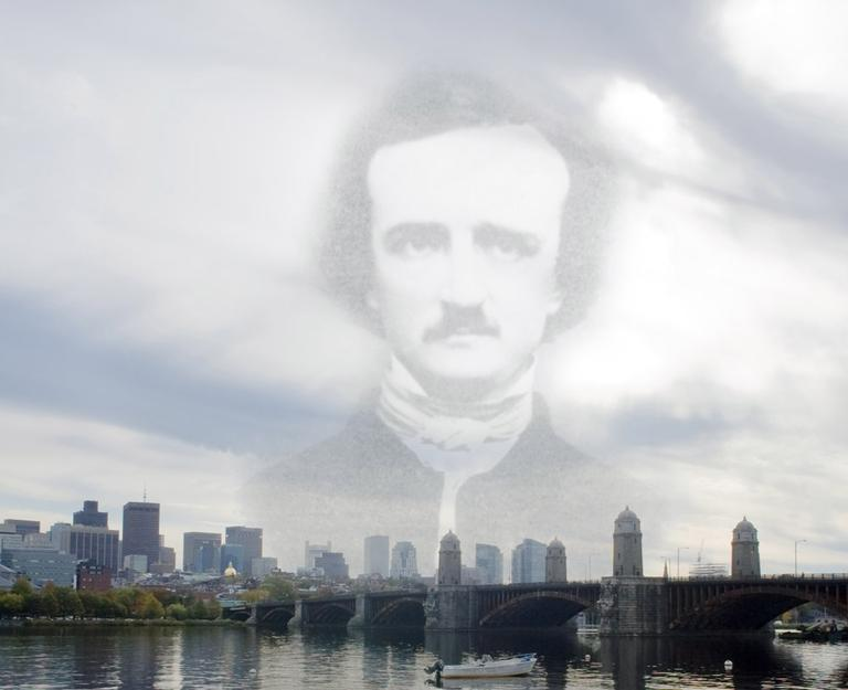 Author and poet Edgar Allan Poe was born in Boston, and published his first and last works here. (Courtesy of Media Technology Services, Boston College)