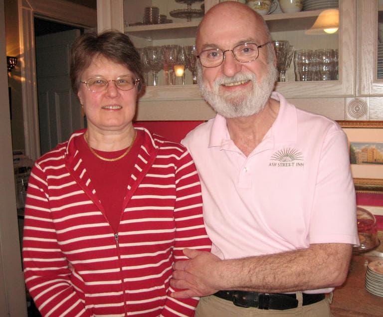 For Darlene and Eric Johnston, who run the Ash Street Inn, the primary is a gift. (Sacha Pfeiffer/WBUR)
