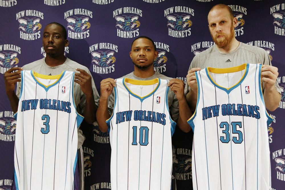 Al-Farouq Aminu, Eric Gordon, and Chris Kaman are among the ten players on New Orleans' roster that were not with the team last season. (AP)