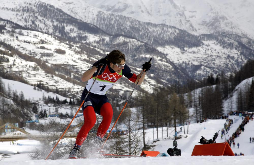 Torin Koos, pictured here as a member of the 2006 U.S. Olympic team, is one of many cross-country skiers who competed in Rumford, Maine. (AP)