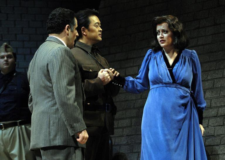 """A publicity photo from Oct. 21, 2009, of Opera Boston's """"Tancredi"""" (AP/Clive Grainger/Opera Boston)"""