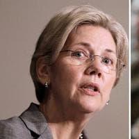 Democratic candidate for Senate Elizabeth Warren, left, and Republican Sen. Scott Brown (AP)