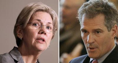 Democratic candidate for Senate Elizabeth Warren, left, and Republican Sen. Scott Brown (AP)