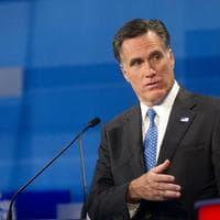Former Massachusetts Gov. Mitt Romney speaks during the South Carolina Republican presidential candidate debate, Monday. (AP)