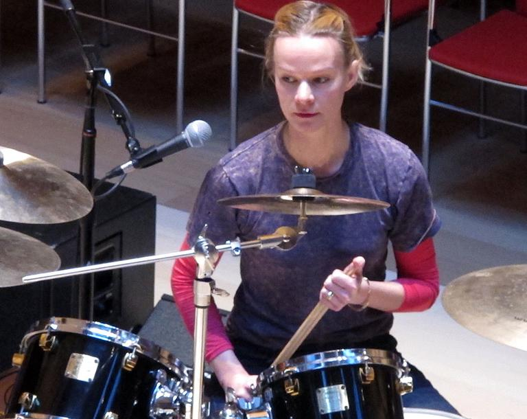 Morton is also in an all-female experimental noise band, Muscles Of Joy. (Andrea Shea/WBUR)