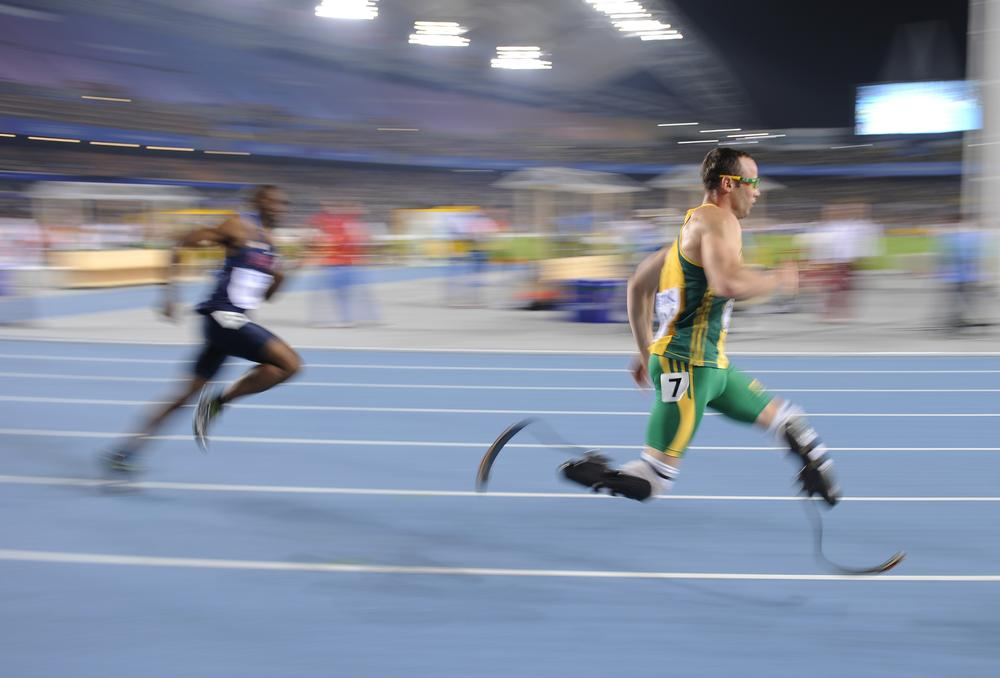 South Africa's Oscar Pistorius competes in the Men's 400m semifinal at the World Athletics Championships in South Korea in August. (AP)