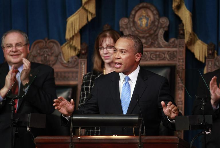 Massachusetts Gov. Deval Patrick during his State of the State address, Monday (AP)