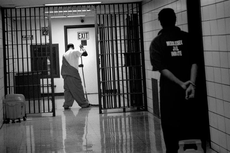 The interior of the Middlesex Jail in Cambridge (Jesse Costa/WBUR)