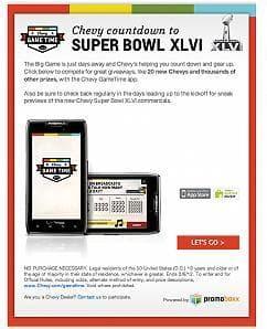 Chevrolet's Super Bowl marketing co-branded for its dealerships.
