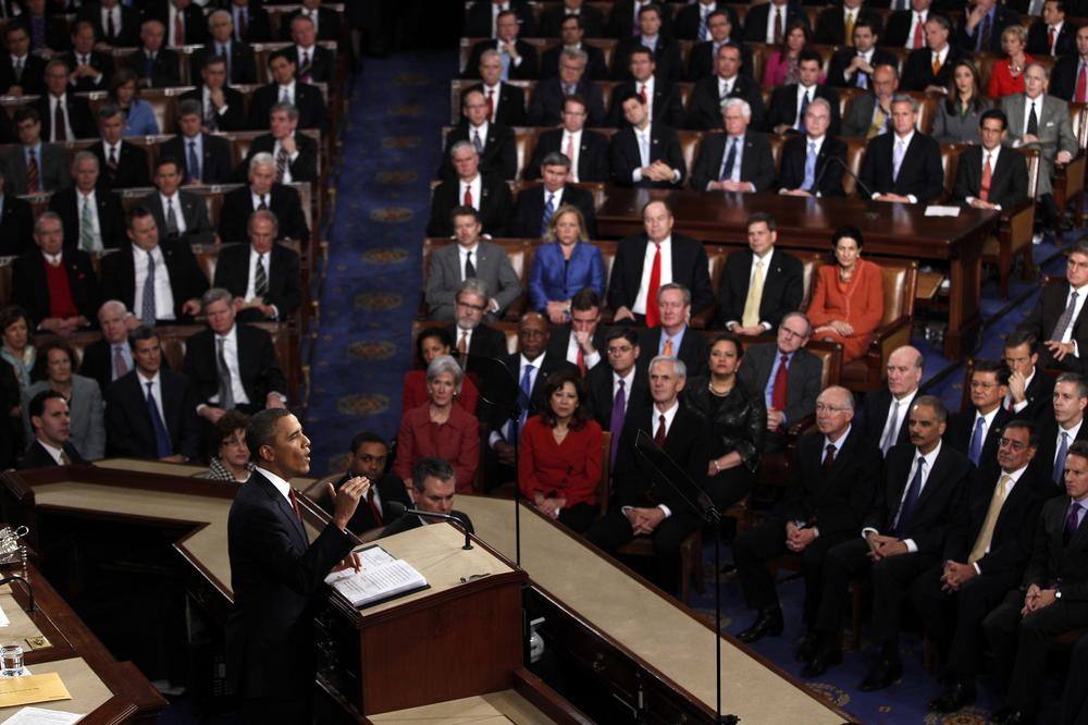 President Barack Obama delivers his State of the Union address on Capitol Hill in Washington, Tuesday, Jan. 24, 2012. (AP)