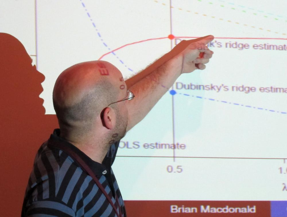 Westpoint's Brian MacDonald describes some of his hockey research at the Joint Mathematics Meetings in Boston.